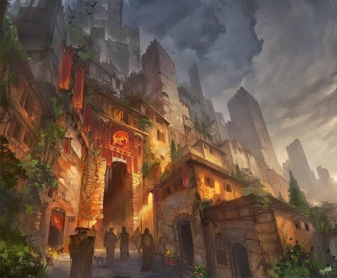 Miasto nad Południowo-Wschodnią Bramą w Murze