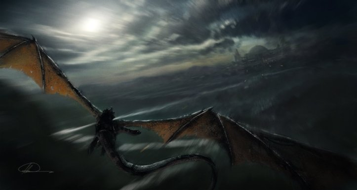 1000x535_7071_Winged_Messenger_2d_fantasy_castle_dragon_flying_wings_nazgul_night_speed_river_picture_image_digital_art