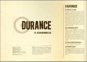 Wielosfer w jednym z numerów Innych Sfer zamieścił tłumaczenie dema Durance.