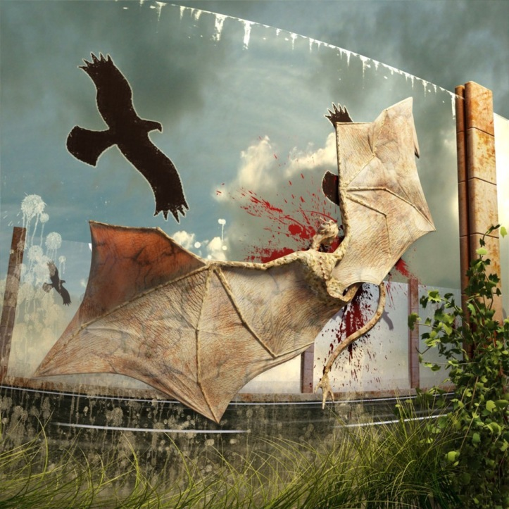 3d-art-anna-celarek-dragon-crashed-against-noise-barrier