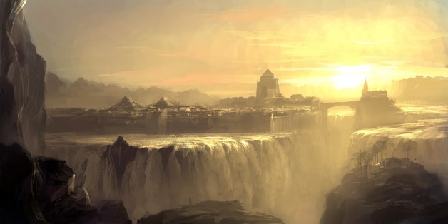 Waterfall_city_by_artbytheo