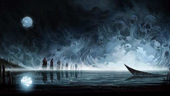 255537-artwork-fantasy_art-skull-moon-reflection-water-boat-soldier-warrior-lake-spirits-dark-spooky.jpg