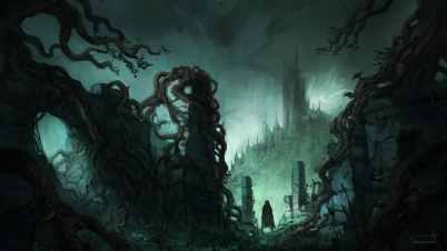 dark_fantasy_ruins_ii___w__process_time_lapse__by_jjcanvas-d9zljq9