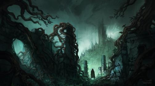 dark_fantasy_ruins_ii___w__process_time_lapse__by_jjcanvas-d9zljq9