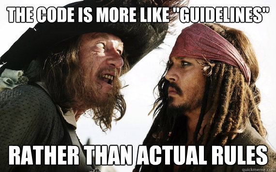 code is guidelines