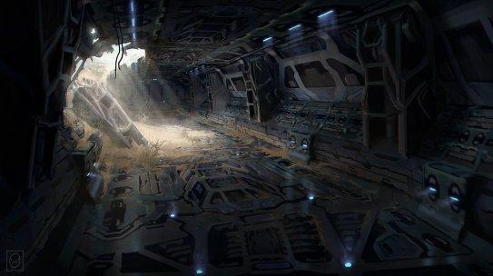collapsed corridor