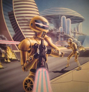droids in city
