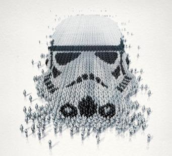 Star Wars Stormtrooper optical illusion