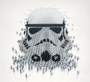 Star Wars Stormtrooper optical illusion