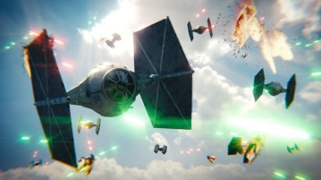tie fighters explode