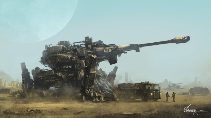 sci-fi artillery