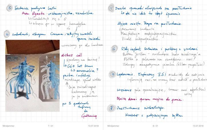 mindjammer - blue - moje notatki