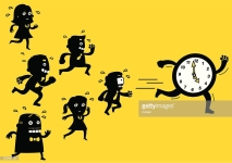 Business Team Running Out Of Time | Yellow Business
