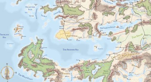 shining sea map