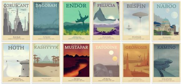 star wars retro posters