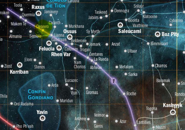 mapka okolic Desevro