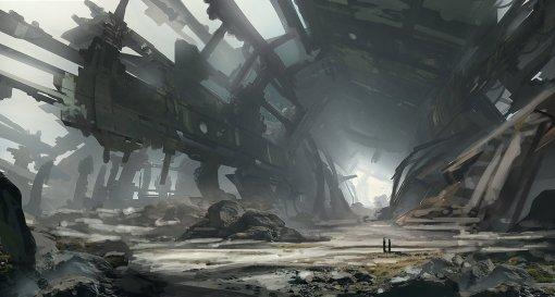 spaceship_ruin_speedpaint_by_tryingtofly-d7ep2bi